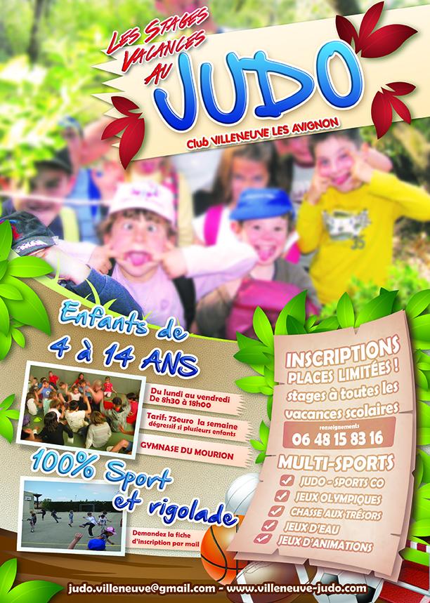 Affiche judo stage