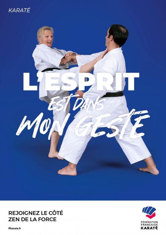 Ffk affiche karate 1