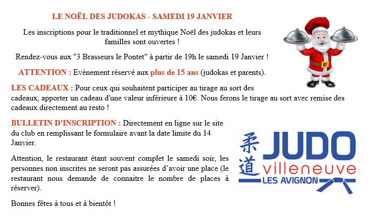 Noel des judokas aux 3 brasseurs 19 janvier 2020
