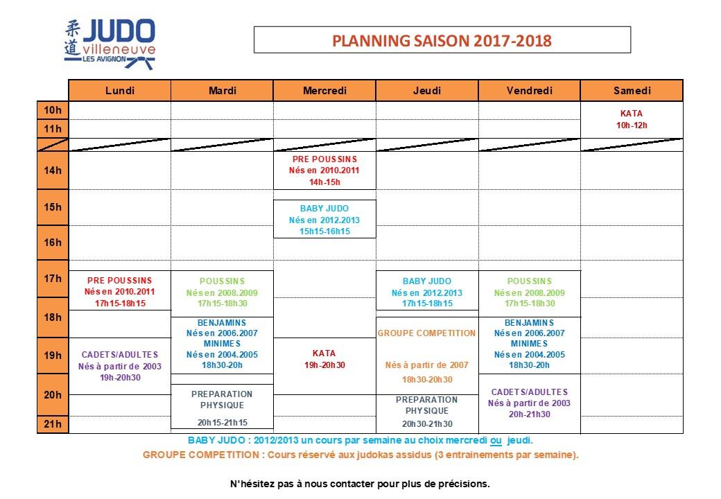 Planning 2017 2018