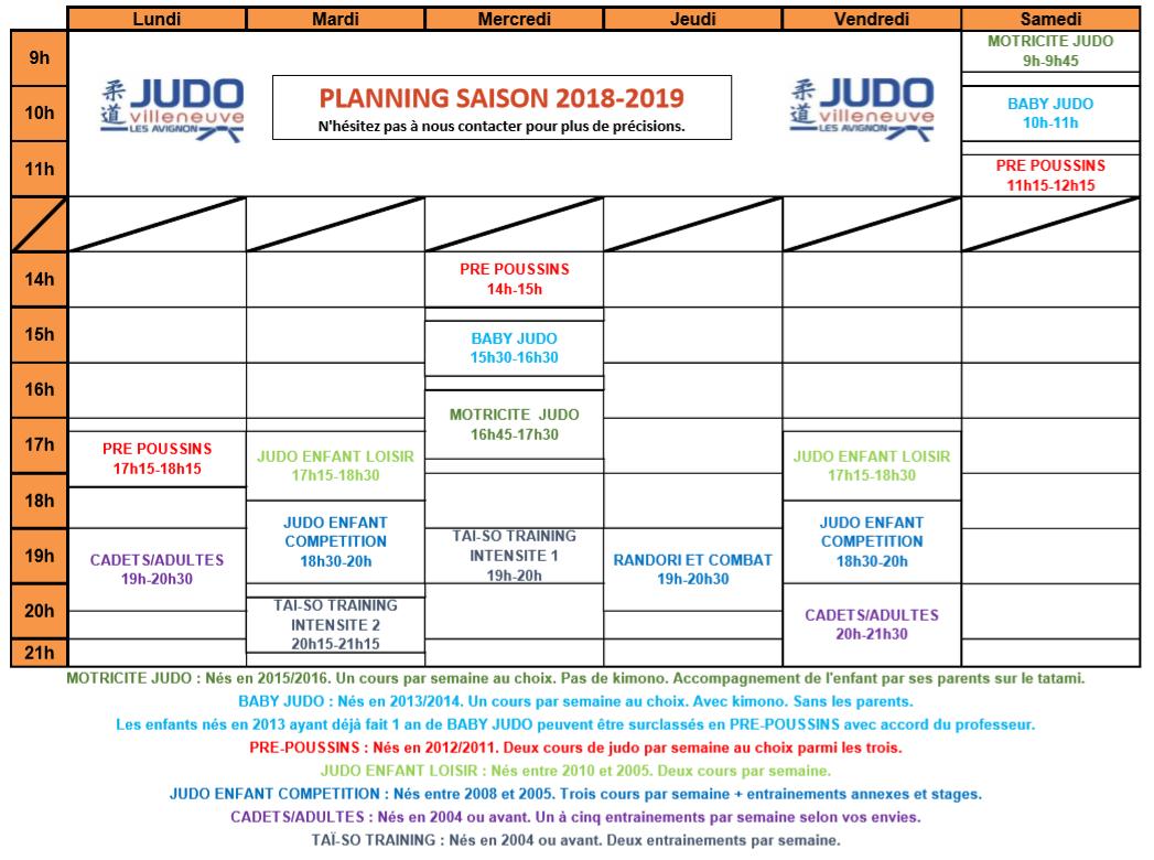 Planning 2018 2019