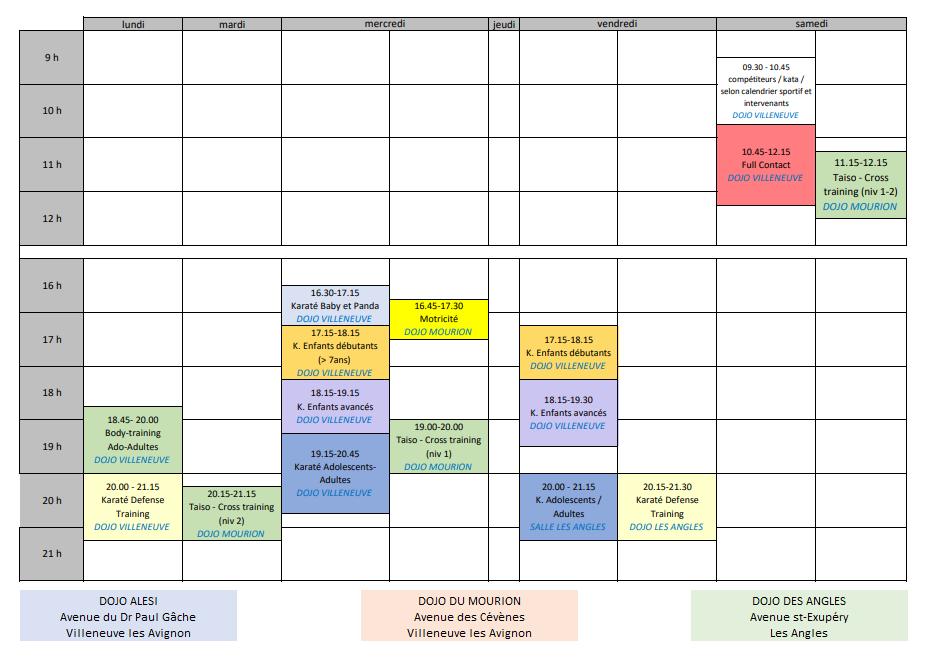 Planning karate 3333