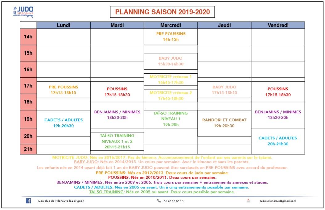 Planning modif driss